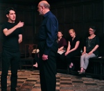 'Princes, like lions, never can be tamed' - Caesar holds forth to Roman General, Proculeius, played by Mike Waters