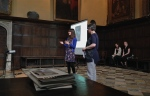 After Yasmin's wonderful talk on her work on the portrait of Anne Clifford as Cleopatra,  Emma answered Helen's questions about the process of staging Cleopatra.